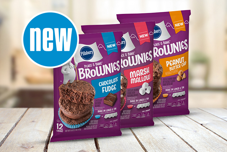 3 New Pillsbury Place and Bake Brownie packages